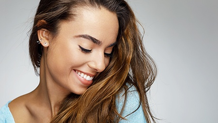 Young woman with gorgeous smile