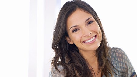 Young woman with healthy bright white smile